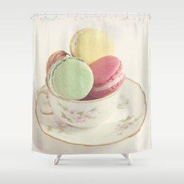 Teacup Macarons Shower Curtain