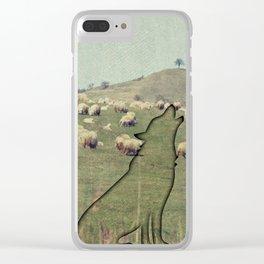 Shepherding wolf Clear iPhone Case