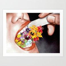 Gardens Flower in her Blooming Breath Art Print