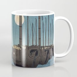 TIR-FA-Japan Print - Fūkeiga - Night Time Japanese Fishermen Coffee Mug