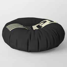 Pararescue (PJ) Black Flag Floor Pillow