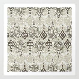 lotus diamond linen Art Print
