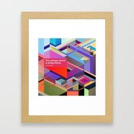 Proportions Framed Art Print
