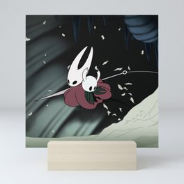Hollow Knight Hornet saves the Knight Mini Art Print