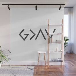 Christian Quote - God Is Greater Than The Highs and Lows Wall Mural
