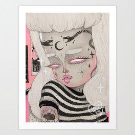 Teenage Ghoul Art Print