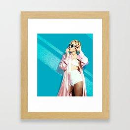 Kali Uchis. Miami Miami. Framed Art Print