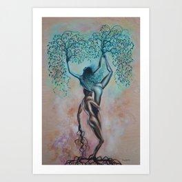 Symbiotic Synapses Art Print