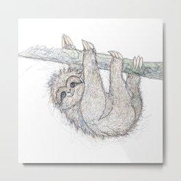 Be Slothful like a Sloth Metal Print