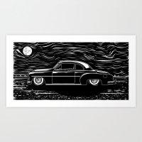 A Chevy Night Art Print