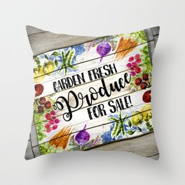 Garden Fresh Produce For Sale Throw Pillow