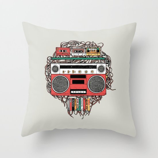 Radioinactive Throw Pillow