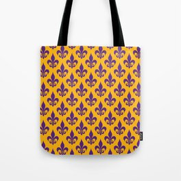 Fleur-de-Lis: Purple & Yellow Tote Bag