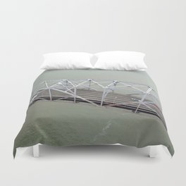 ARCH ABSTRACT 15: Old Bay Bridge, San Francisco Duvet Cover