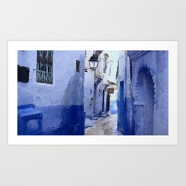 Chefchaouen 2 - Morocco Art Print