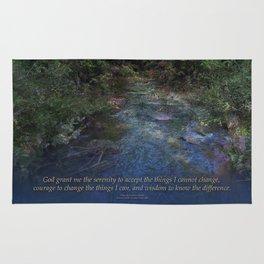 Serenity Prayer Blue Creek Rug