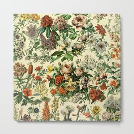 Adolphe Millot- Vintage Fleurs Metal Print