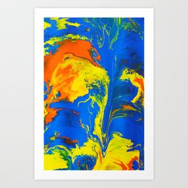 Gravity Painting 18 Art Print