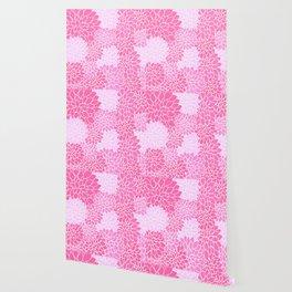 Pink Dahlias / Pink Floral / Pink Flowers Wallpaper