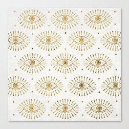 Evil Eyes Gold Canvas Print