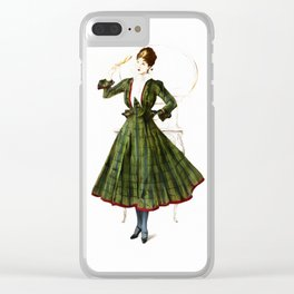 Vintage Fashion Dress Clear iPhone Case