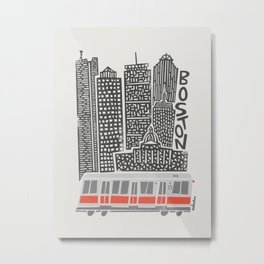 Boston City Illustration Metal Print