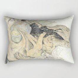 Held Rock IV:  Tree Hug Rectangular Pillow