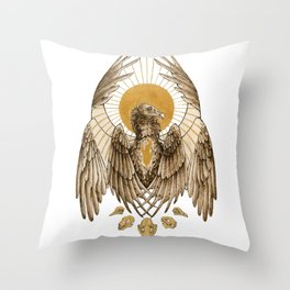 Unsung Saint: Cathartes Aura Throw Pillow