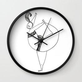Yogapose Wall Clock
