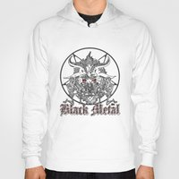 baphomet Hoodies featuring Black Metal Baphomet Pentagram  by Scott Jackson Monsterman Graphic