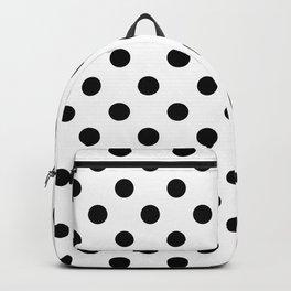 Polka Dots (Black & White Pattern) Backpack