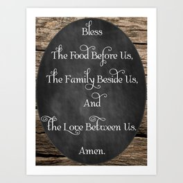 Prayer Table Blessing Art Print