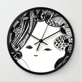Curly Girl by Christiane Wall Clock