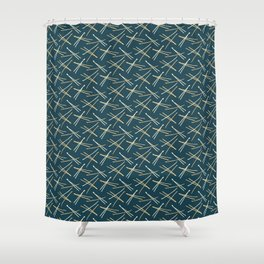 Hand drawn abstract Christmas foliage pattern. Shower Curtain