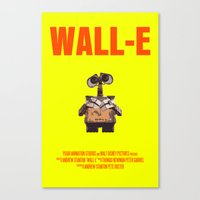 wall e Canvas Prints featuring Wall-E by FunnyFaceArt