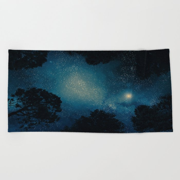 Stars & Trees Beach Towel