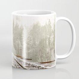 Railway in the forest Coffee Mug