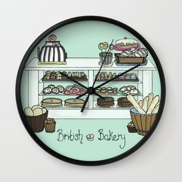 British Bakery Wall Clock