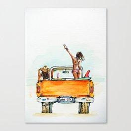 Dream Surf Truck Canvas Print
