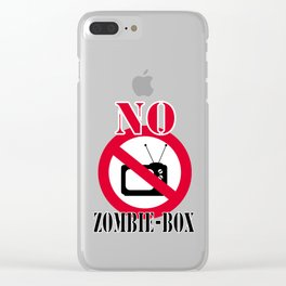 No zombie-box Clear iPhone Case