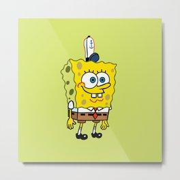 Spongebob Work Metal Print