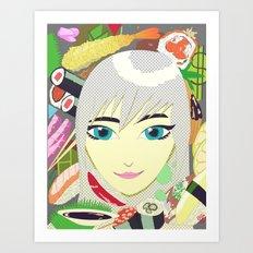 Fish Head Art Print
