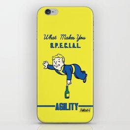Agility S.P.E.C.I.A.L. Fallout 4 iPhone Skin