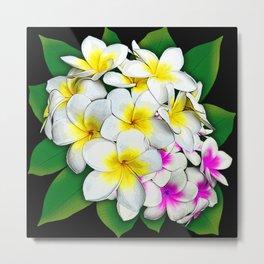 Plumeria Flowers Bouquet Metal Print