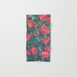 Camellias, lips and berries. Hand & Bath Towel