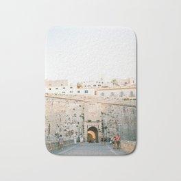 "Travel photography ""Entrance Eivissa Ibiza"" | Printable photo art Spain Bath Mat"