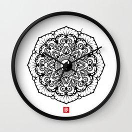 Taoist Lotus Mandala Wall Clock