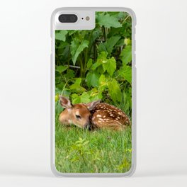 Baby Deer Clear iPhone Case