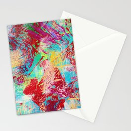 REEF STORM - Fun Bright BOLD Playful Rainbow Colors Underwater Ocean Reef Theme Coral Aquatic Life Stationery Cards