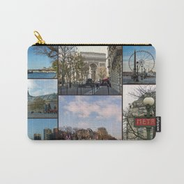 Paris Collage Carry-All Pouch